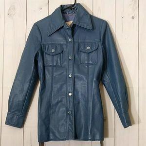 Vintage white stag blue jacket size 10